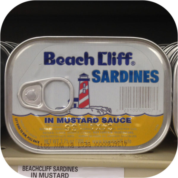 Beach Cliff Sardines in Yellow Mustard Sauce Herring Steaks Fish Snack Kipper-0