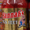Hannah Pickled Pig's Feet Quart Jar Meat Snack Hot Saisage Weiners-0