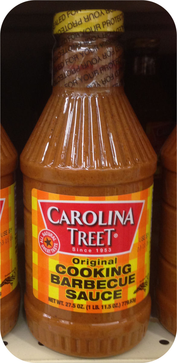 Carolina Treet 27.5 oz BBQ Sauce Dip Grilling Eastern NC Pork Shoulder Chicken-0