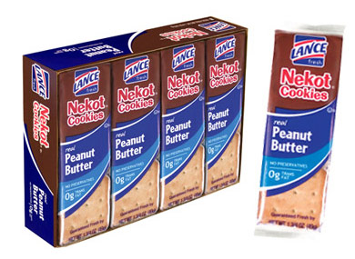 Nekot Lance Cookie Sandwich Crackers Real Peanut Butter Crackers 6 pack NABS-0