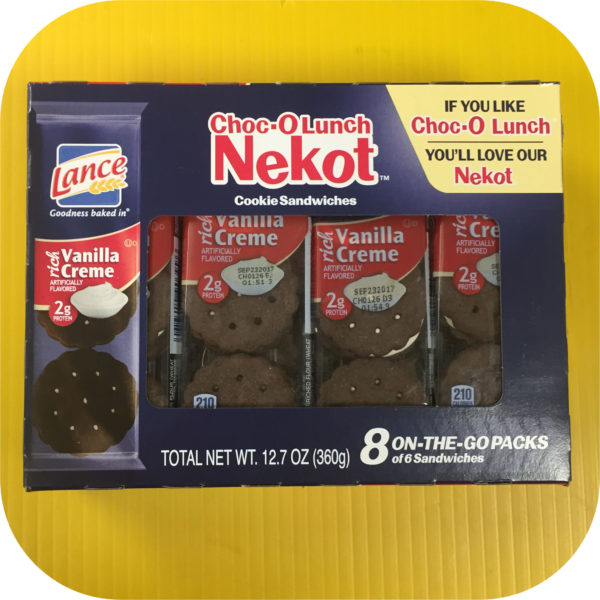 Choc-O-Lunch Lance Cookie Sandwich Crackers Chocolate Vanila Creme 6 pack NABS-0