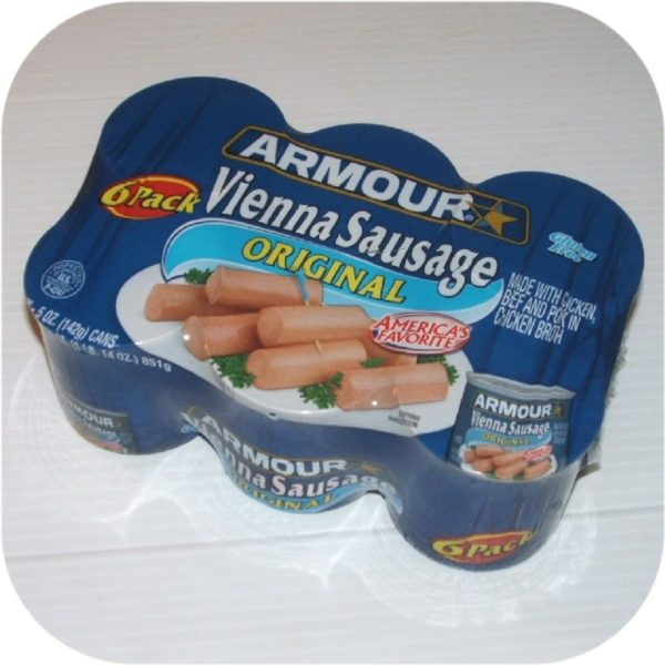 Six Pack Armour Vienna Sausage Regular 6 Cans Meat NEW-0