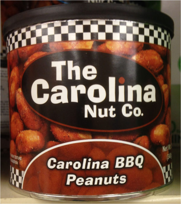 ONE 12 oz Can of Carolina Nuts in Carolina BBQ Peanuts Flavor Snack Mesquite-0