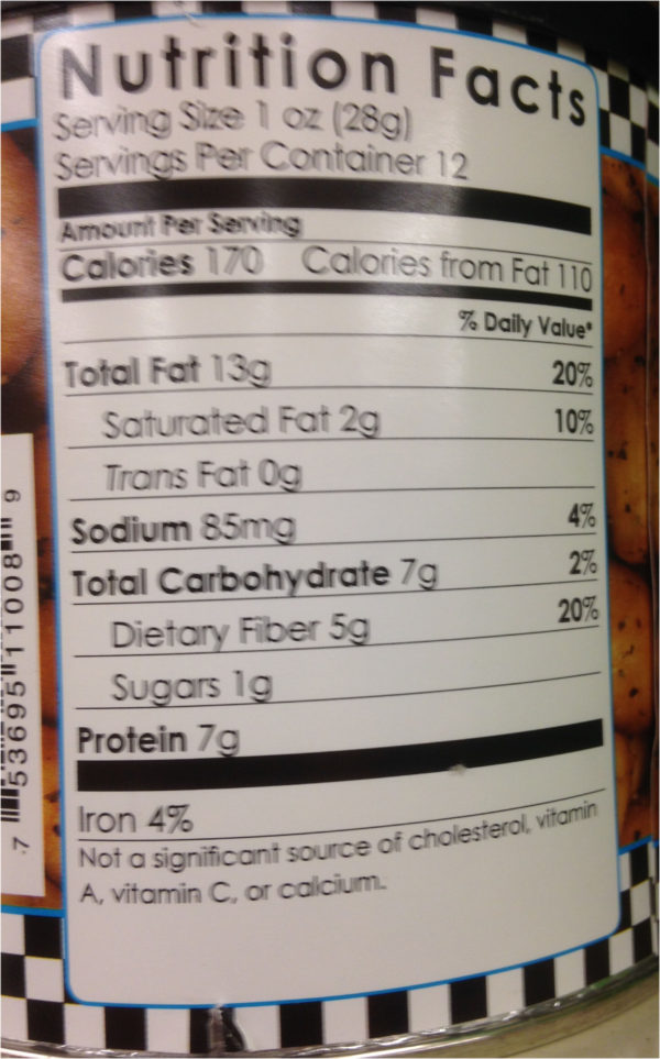 12 oz Can of Carolina Nuts in Sea Salt & Pepper Flavor Peanut Snack Salted-19835