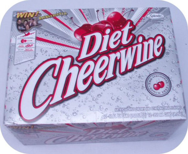 12 pack of DIET CHEERWINE Cans cherry cola soft soda-0