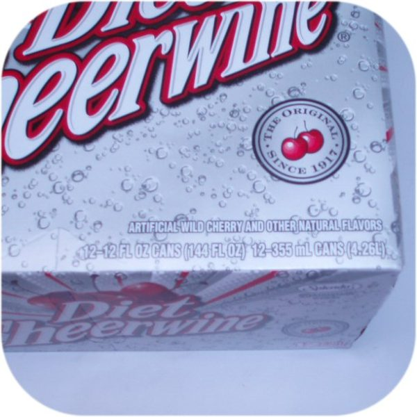 12 pack of DIET CHEERWINE Cans cherry cola soft soda-9097