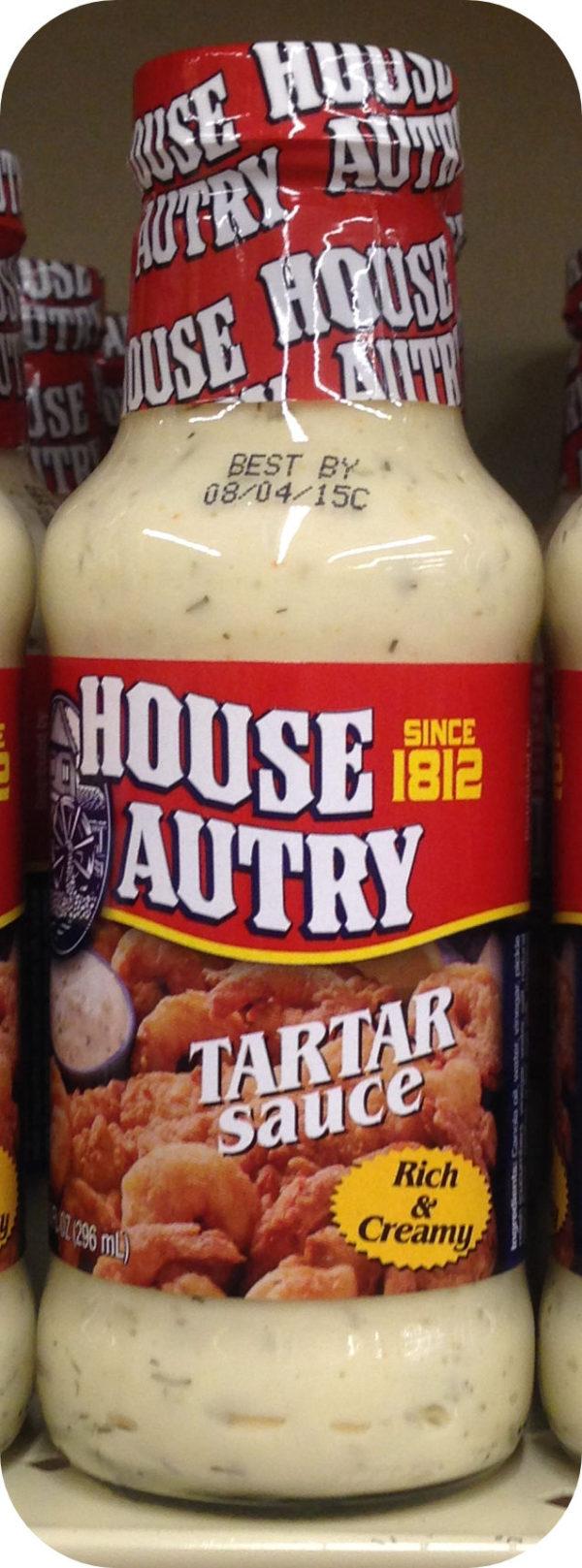 House Autry Tartar Sauce 11.5 Oz shrimp clams oysters crab cakes fish burgers-0