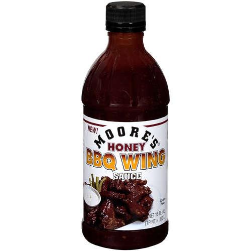 Moore's Honey BBQ Wing Sauce Marinade Chicken Hot Dip-0