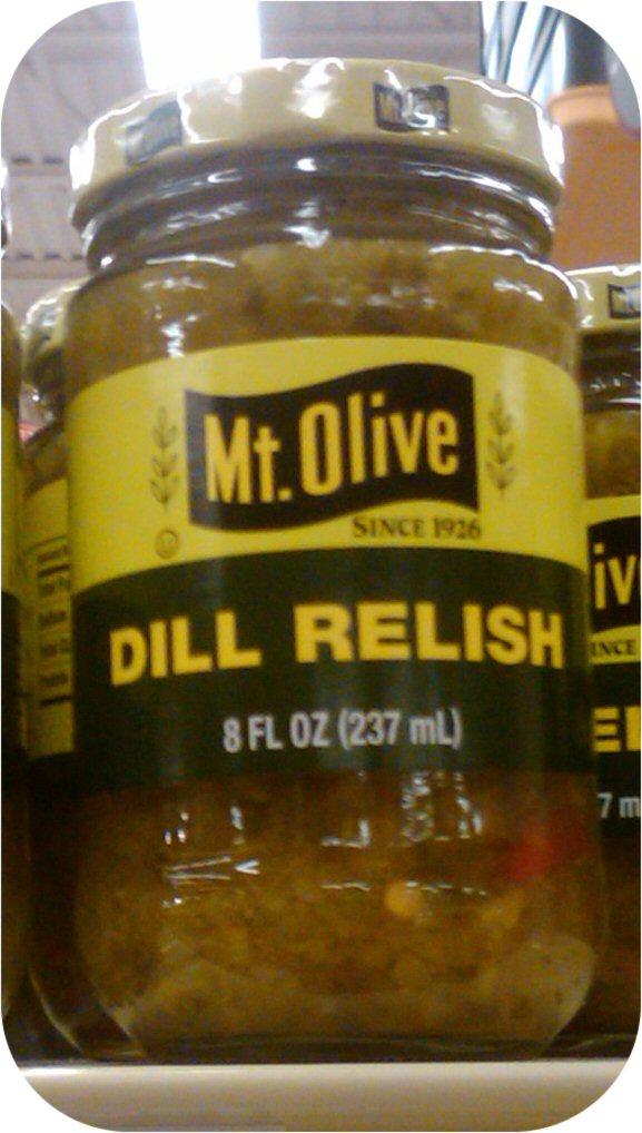 Mount Olive Dill Pickle Relish 8 oz Hot Dog Cubes Mt-0