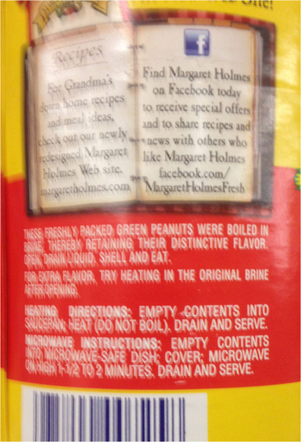 13.5 oz can PEANUT PATCH GREEN BOILED PEANUTS Flavor Protein WholeSnack-19847