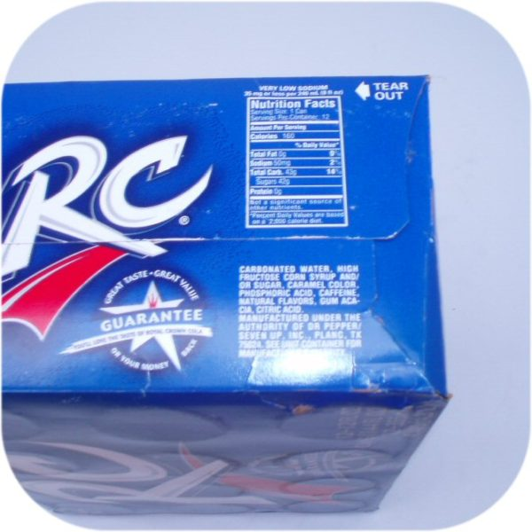 12 pack of RC Cola Cans Royal Crown soft soda pop drink-9108