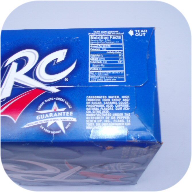 12 pack of RC Cola Cans Royal Crown