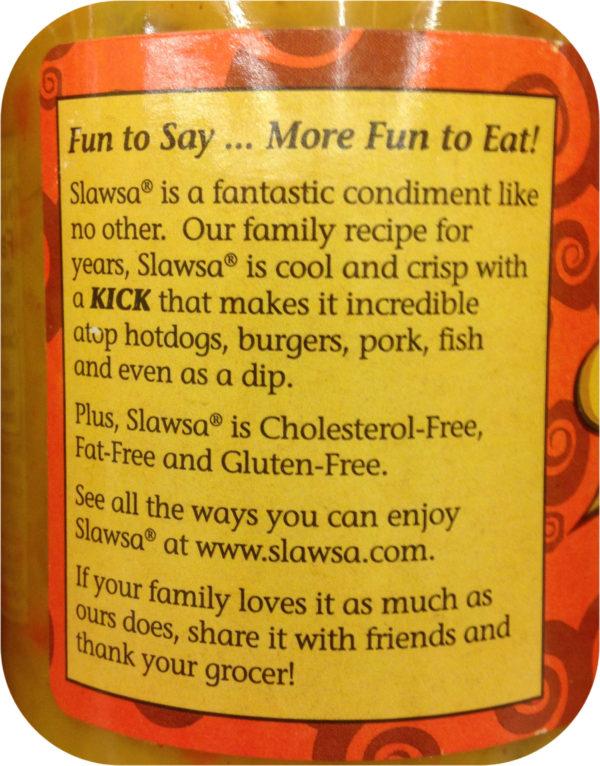 Slawsa SPICY Pickle Relish DIP 12oz Weiner Bun Hamburger Slaw Kosher Chow Chow-19823