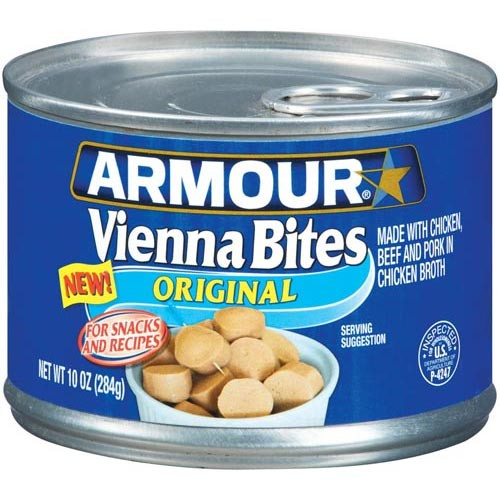Armour Star Vienna Sausage Bites 10 oz Can Meat Food-0