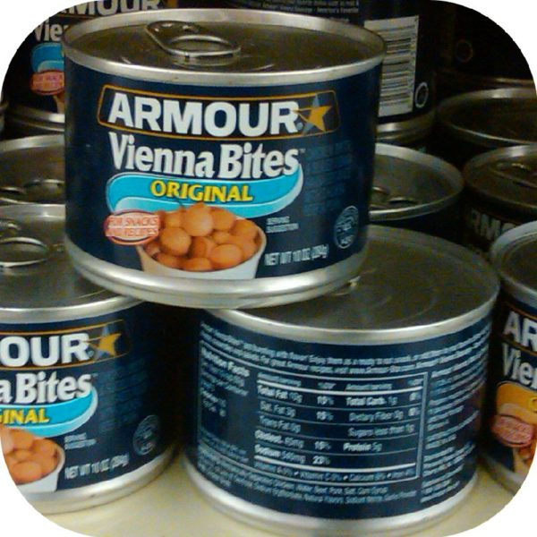 Armour Star Vienna Sausage Bites 10 oz Can Meat Food-18829