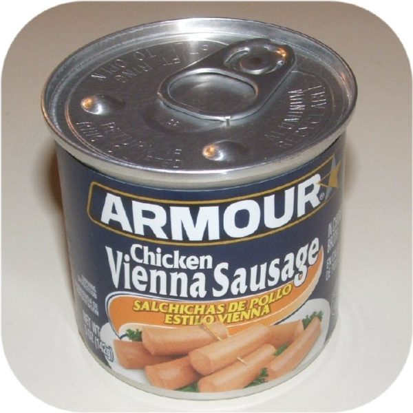 Chicken Armour Star Vienna Sausage 5 oz Can Meat Food-0