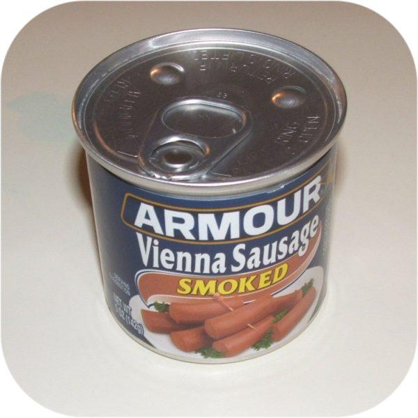 Smoked Armour Star Vienna Sausage 5 oz Can Meat Food-0